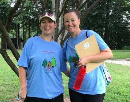 Best camp friends reunited as moms