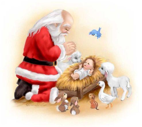 Santa and Jesus